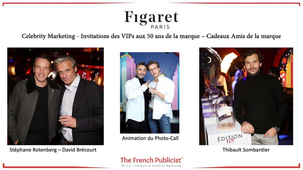Celebrity Marketing pour la maison Figaret Paris by The French Publicist