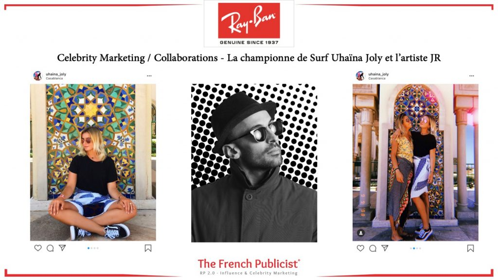 Celebrity Marketing pour Ray-Ban Luxottica France by The French Publicist