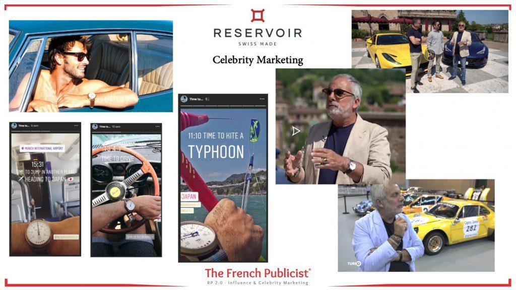 Collaborations et Celebrity Marketingpour Réservoir Watch by The French Publicist