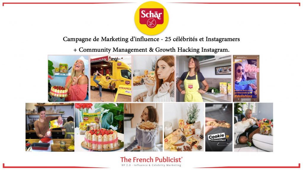 Projet de marketing d'influence pour Schär France by The French Publicist
