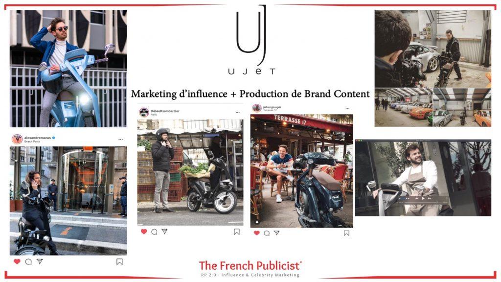 Campagne de Marketing d'Influence et de Brand Content pour Ujet International by The French Publicist